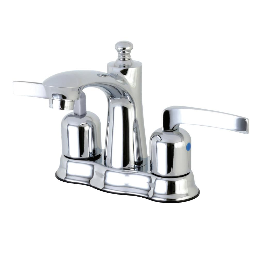 Centurion 4 in. Centerset 2-Handle Bathroom Faucet in Polished Chrome