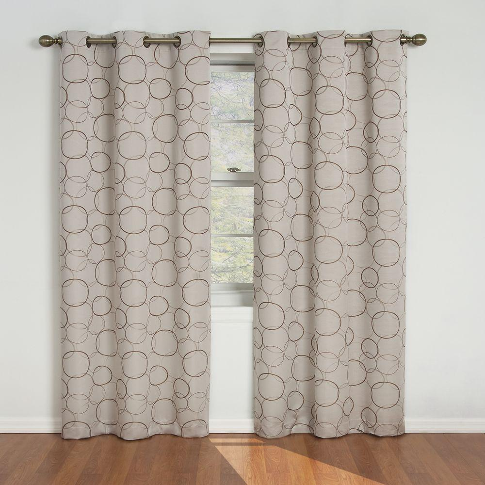 Eclipse Meridian Blackout Linen Curtain Panel, 95 In. Length