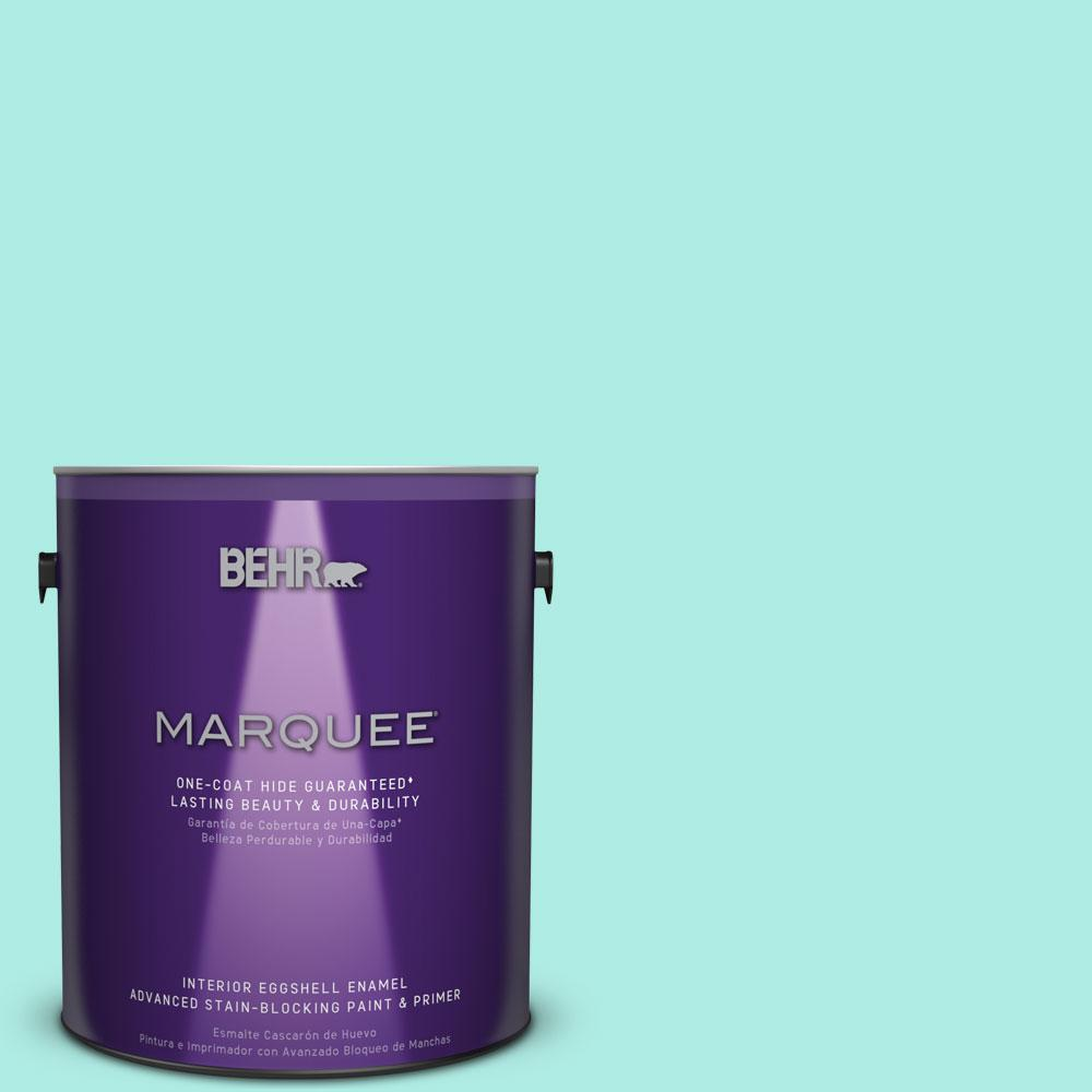 BEHR MARQUEE 1 gal. #MQ4-23 Aloha Eggshell Enamel One-Coat Hide Interior Paint and Primer in One