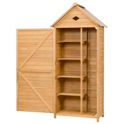 70 in. Wooden Outdoor Storage Hutch Single Door Shed