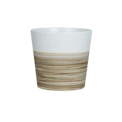 5 in. Small White Ceramic Bamboo Pot