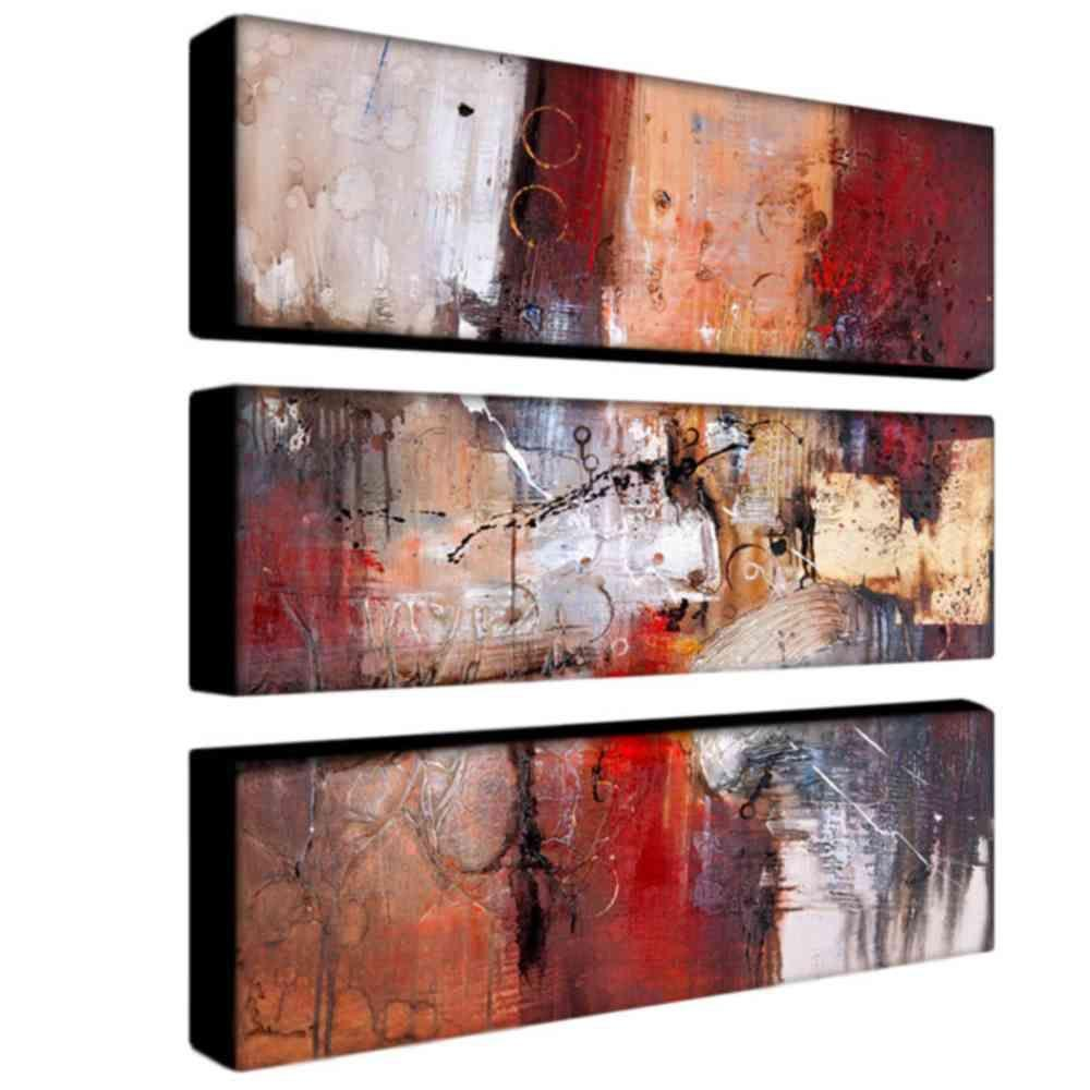 Trademark Fine Art 32 in. x 10 in. Cube Abstract V 3-Piece Canvas Art Set