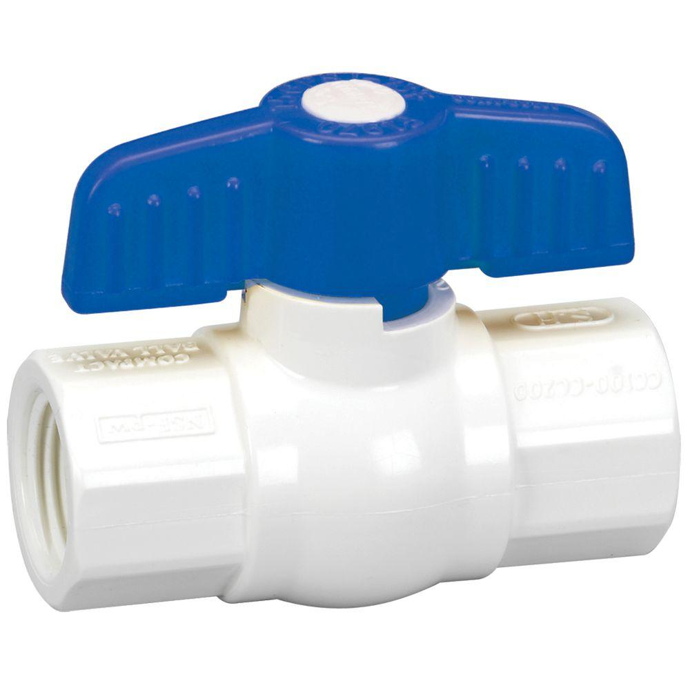 Homewerks Worldwide 1-1/4 in. PVC Sch. 40 FPT x FPT Ball Valve