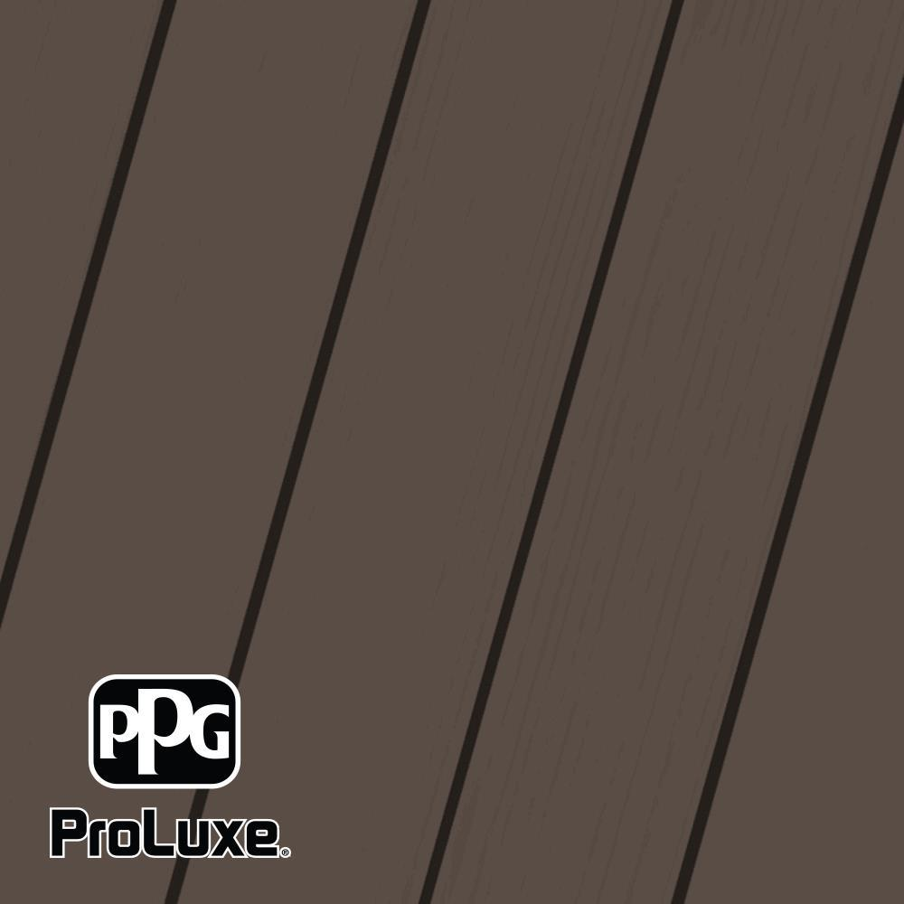 PPG ProLuxe 5 gal. Premium #HDGSIK710-058 Oxford Brown Solid Stain Wood Finish