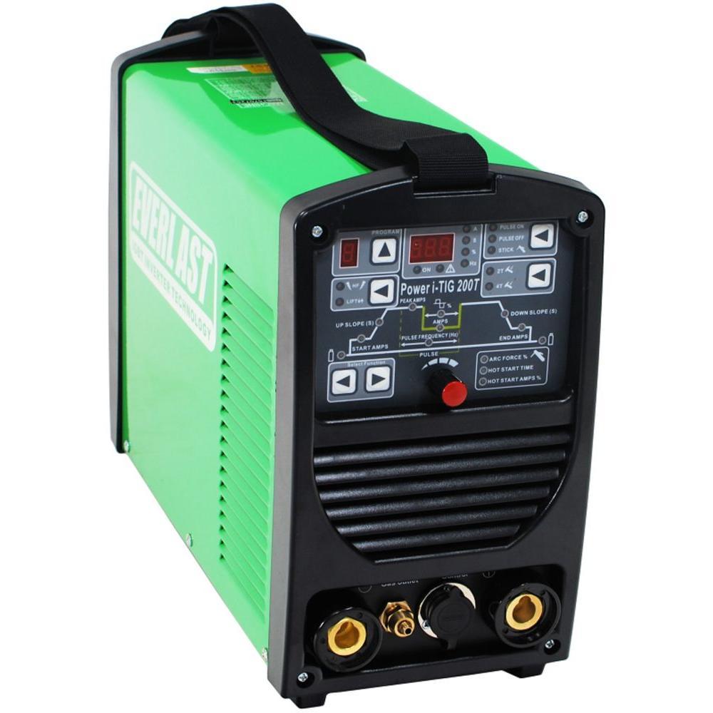200 Amp Power i-TIG 200T IGBT Digital Inverter DC Stick/TIG Welder w/ HF and Lift TIG Start, 9 Program Memory, 240V