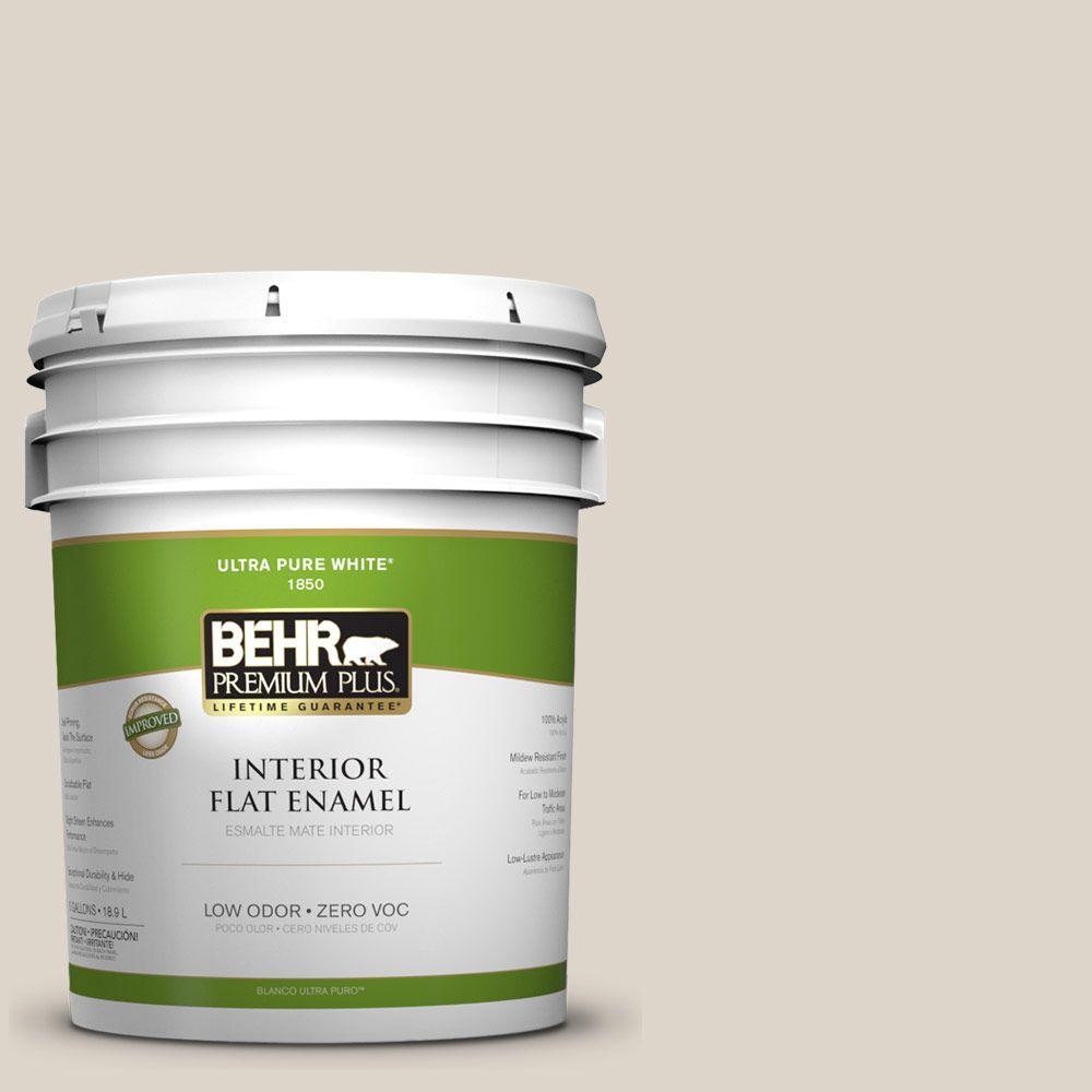 BEHR Premium Plus Home Decorators Collection 5-gal. #HDC-CT-19 Windrush Zero VOC Flat Enamel Interior Paint-DISCONTINUED