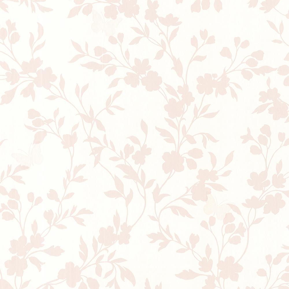 9312b80b0e5 Layla Rose Floral Trail Silhouette Wallpaper Sample-2532-20464SAM - The  Home Depot