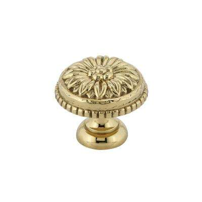 Traditional 1-3/16 in. (30 mm) Brass Round Cabinet Knob