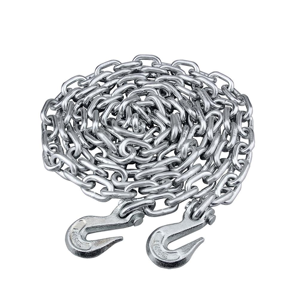 KingChain 5/16 in. x 20 ft. Grade 43 High-Test Tow Chain with 5/16 ...