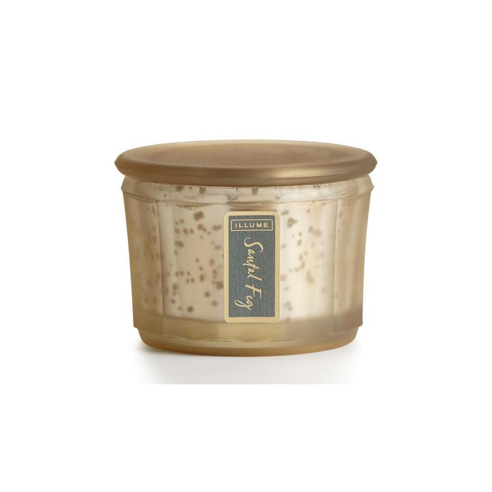 2.5 in. Santal Fig Lustre Jar Candle, Gold