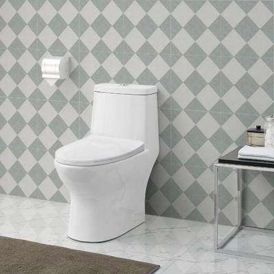 Ivy 1-Piece 0.8/1.28 GPF Dual Flush Elongated Toilet in White