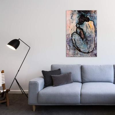 """40 in. x 26 in. """"Blue Nude"""" by Pablo Picasso Printed Canvas Wall Art"""