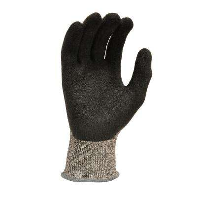 CutShield Large Grey Grip Cut Slash Puncture Resistant Gloves