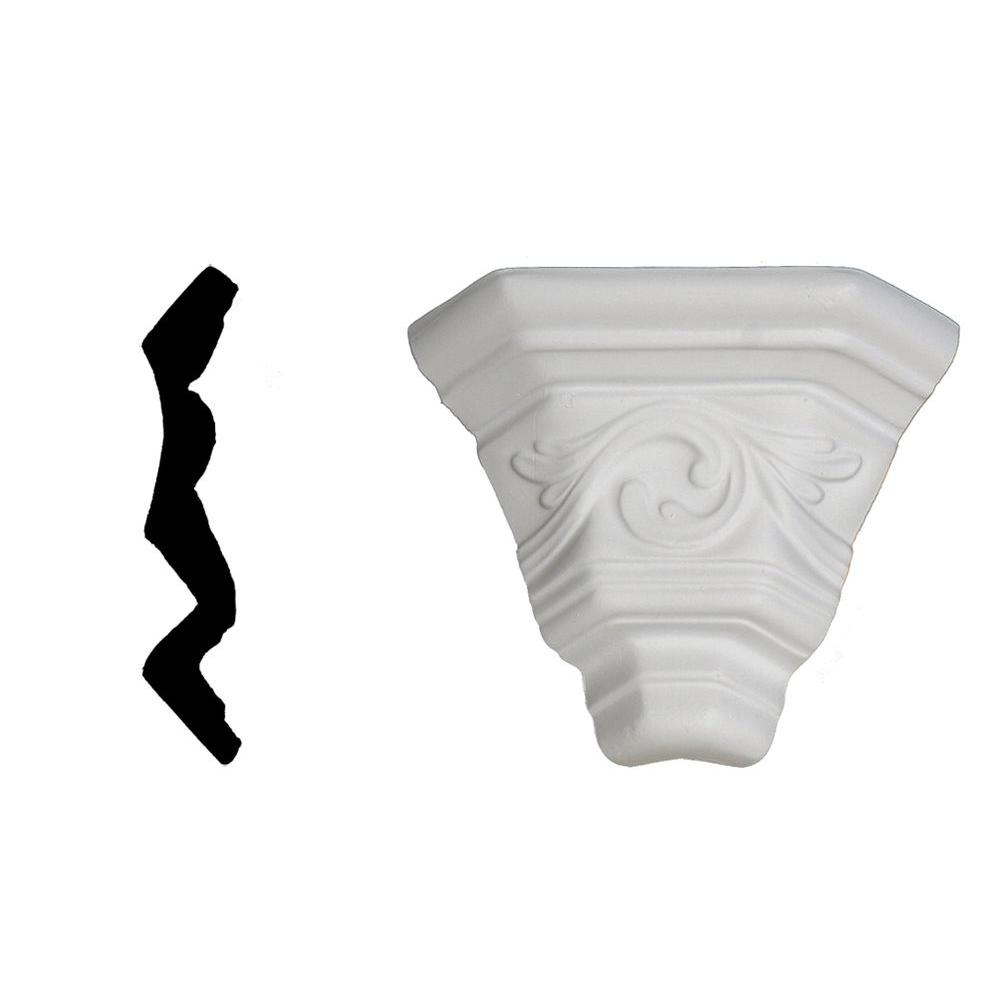 Lynea Molding Wave Collection 4-1/8 in. x 3-1/8 in. x 3-1/8 in. Composite Crown Outside Corner Moulding DISCONTINUED-DISCONTINUED