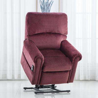 Red Gel Memory Foam Power Lift Recliner Chair