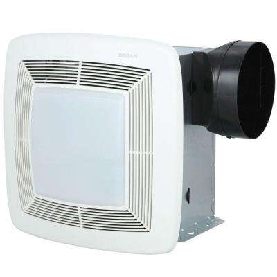 QTX Series Very Quiet 80 CFM Ceiling Exhaust Bath Fan with Light, ENERGY STAR Qualified