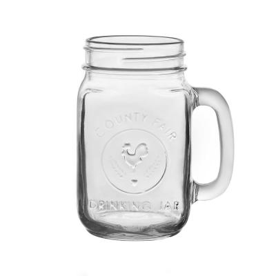 County Fair 12-Piece Clear Glass Drinking Jar Set