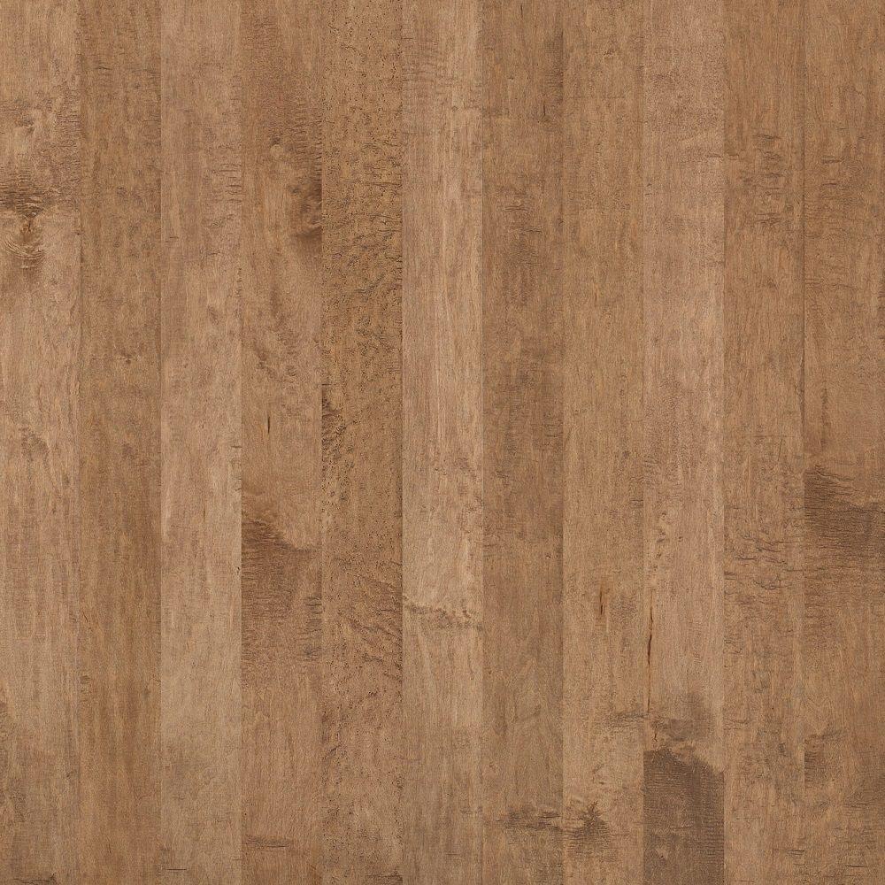 Shaw Hand Scraped Maple Edge Straw Engineered Hardwood Flooring - 5 in. x 7 in. Take Home Sample