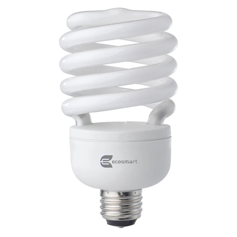 EcoSmart 120W Equivalent Daylight  Spiral CFL Light Bulb (2-Pack)