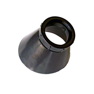 Roof Vent Pipe Collar Repair for 1-1/2 in. I.D. Vent Pipe in Black