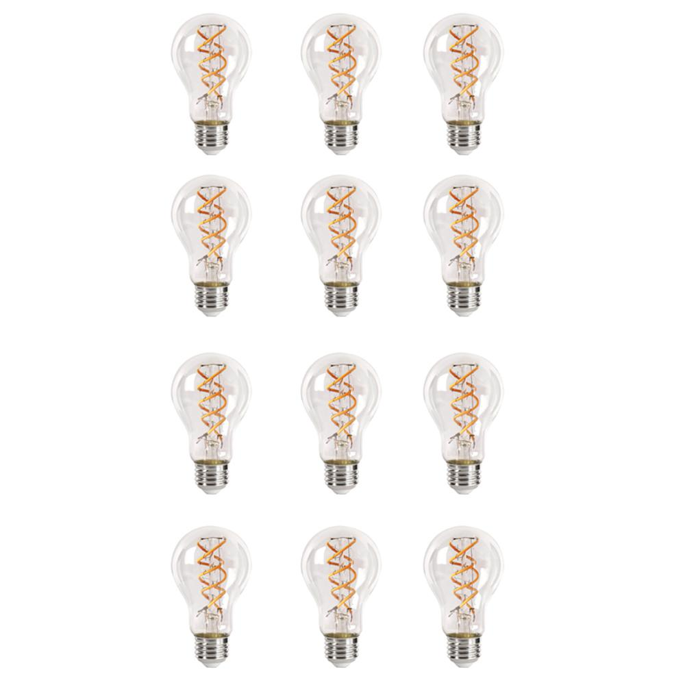 40-Watt Equivalent Soft White AT19 Dimmable LED Antique Edison Clear Filament