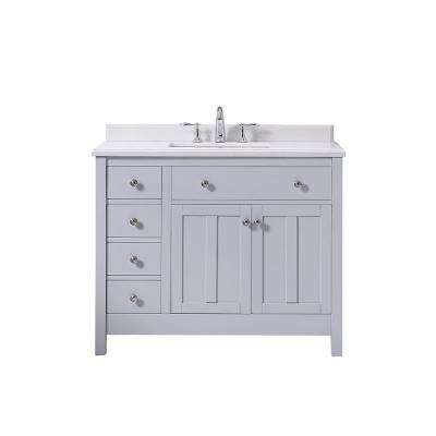 D Vanity In Dove Gray With Cultured