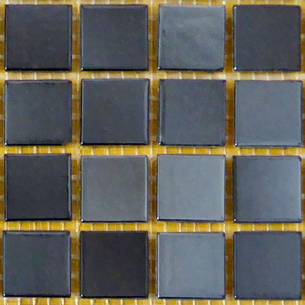 Bellaterra Home Black 12 In X 4 Mm Gl Mosaic Tile