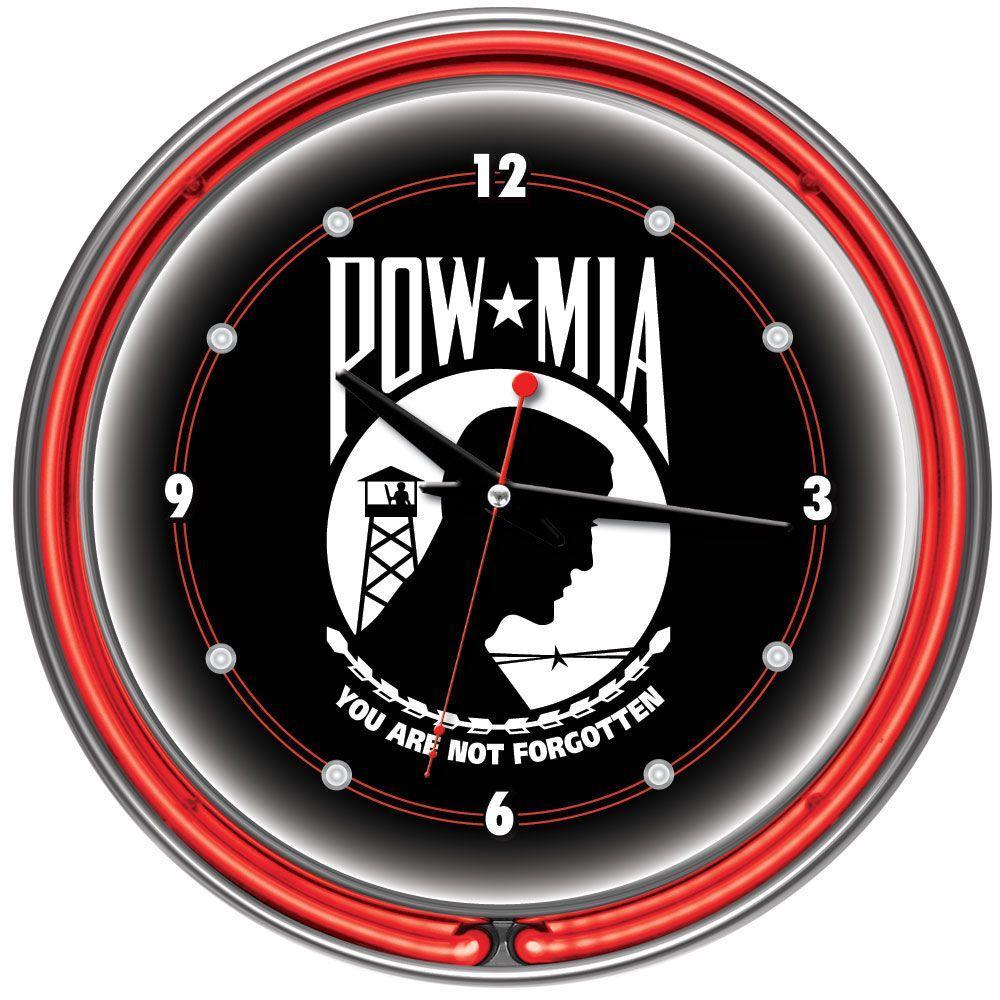 Trademark Global 14 in. POW Neon Wall Clock