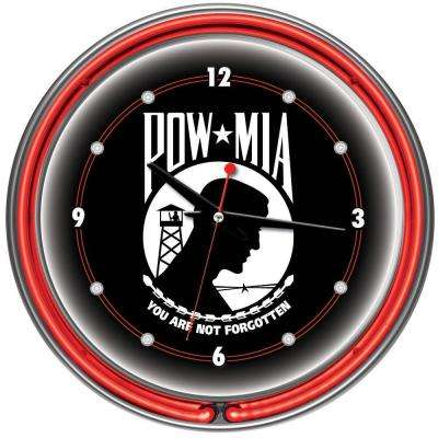 14 in. POW Neon Wall Clock