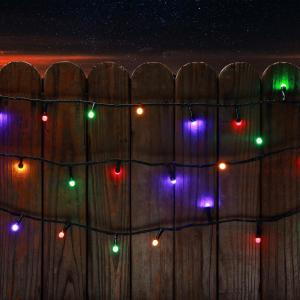 200 light mini globe multi color low voltage led string light sl 200 8 tc mc the home depot