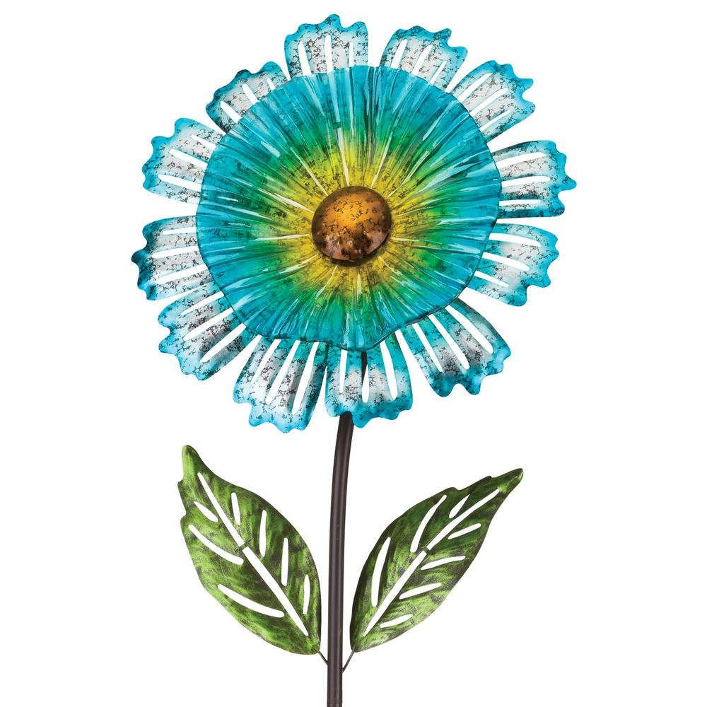 53 in. Cosmo Garden Flower Stake Blue