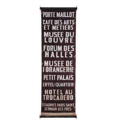 59 in. H x 19.75 in. W Port Maillot City Wood and Fabric Wall Banner