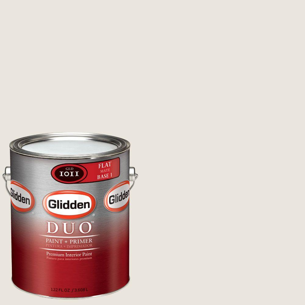 Glidden DUO Martha Stewart Living 1-gal. #MSL226-01F Talc Flat Interior Paint with Primer - DISCONTINUED