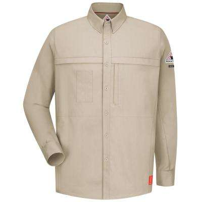 IQ Men's X-Large (Tall) Light Tan Long Sleeve Concealed Pocketed Shirt
