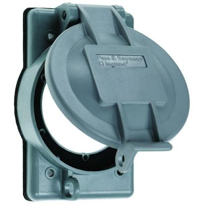 Pass & Seymour 1 Gang Thermoplastic Weatherproof Lift Cover for Flanged Inlets/Outlets, Gray