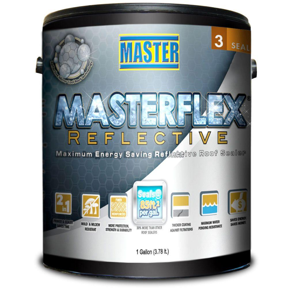 Master Products 1 Gal  Masterflex Reflective Asphalt Roof