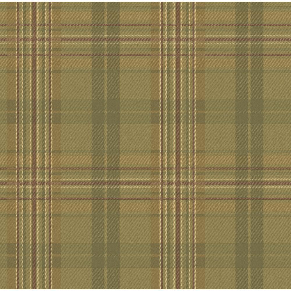 Austin Moss Tartan Paper Strippable Roll Wallpaper (Covers 56.4 sq. ft.)