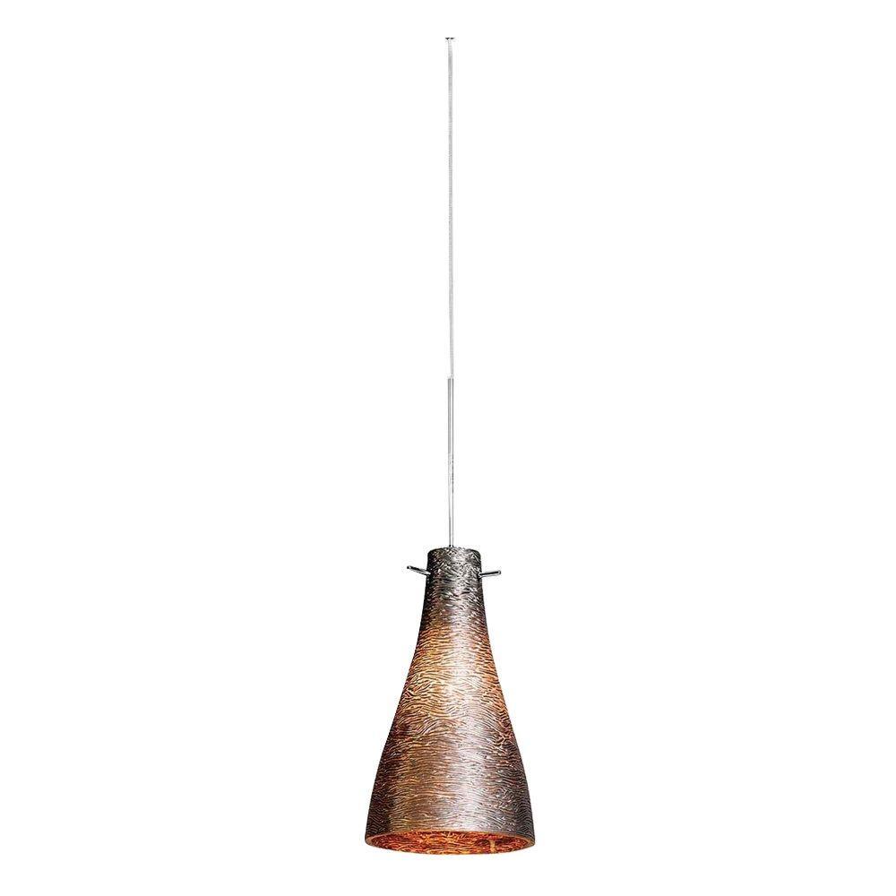 Access Lighting 1-Light Mini Pendant Brushed Steel FinishMetal Glass-DISCONTINUED