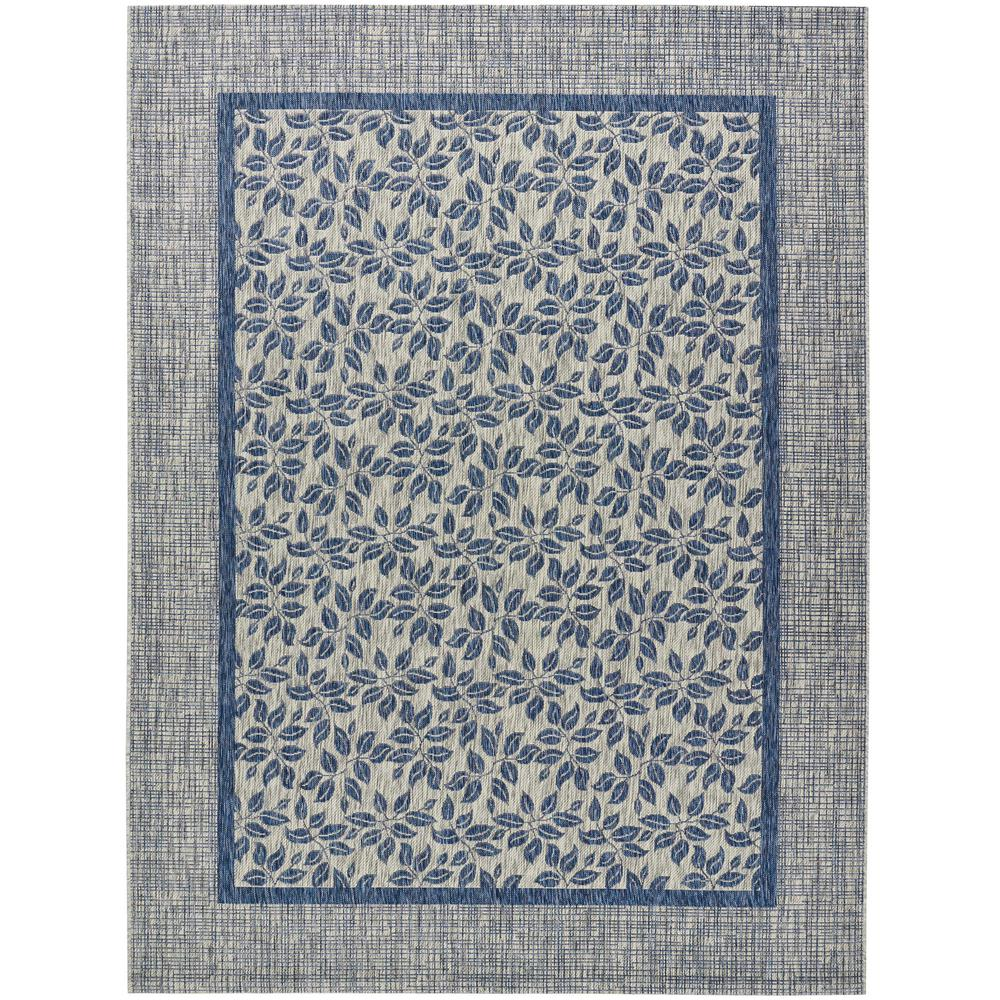 Country Side Ivory Blue 10 ft. x 13 ft. Indoor/Outdoor Area