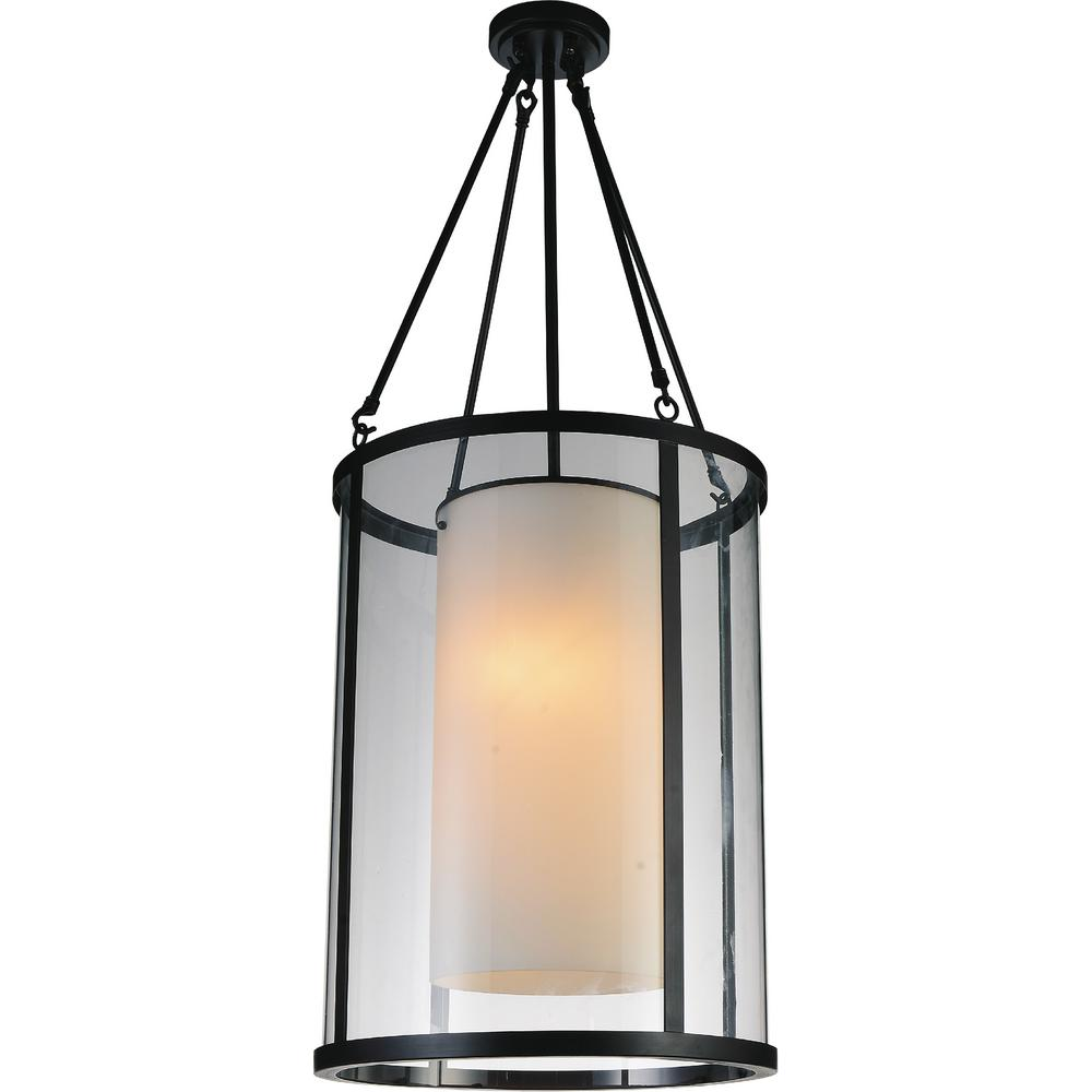CWI Lighting Danielle 2-Light Oil Rubbed Brown Chandelier with White shade
