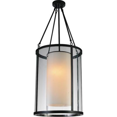 Danielle 2-Light Oil Rubbed Brown Chandelier with White shade