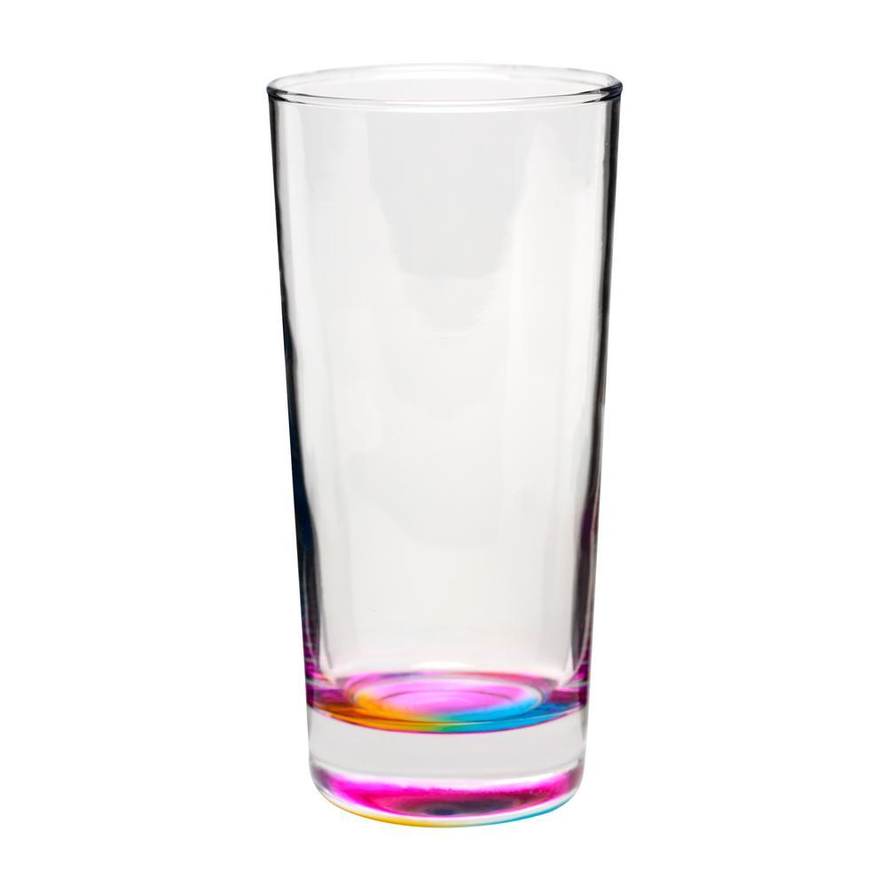 Mirage 14 oz. 6-Piece Clear Glass Hiball Drinkware Set