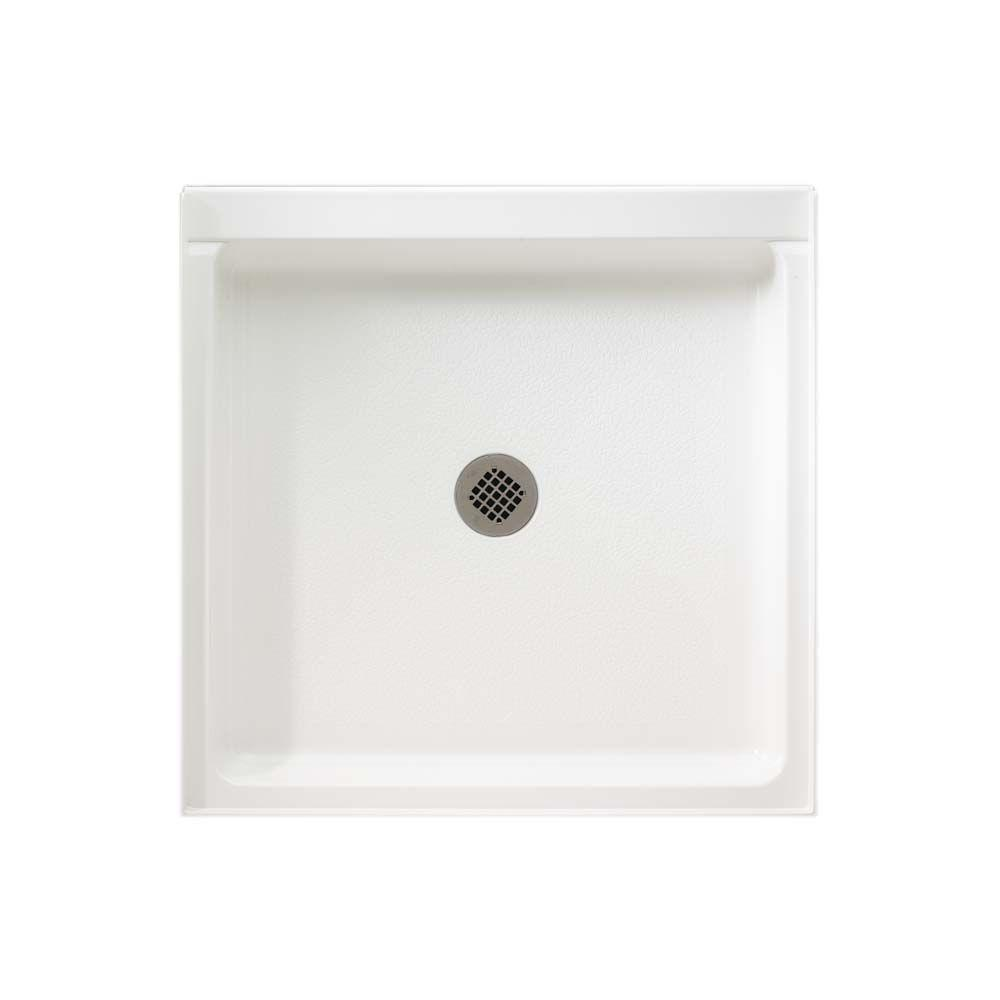 Swan 42 in. x 42 in. Solid Surface Single Threshold Shower Floor in White