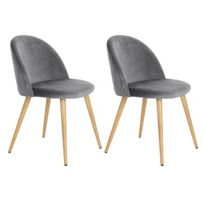 Zomba Grey Velvet Dining Chair (Set of 2)