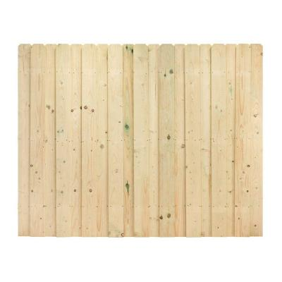 6 ft. x 8 ft. Pressure-Treated Pine Dog-Ear Board-on-Board Fence Panel