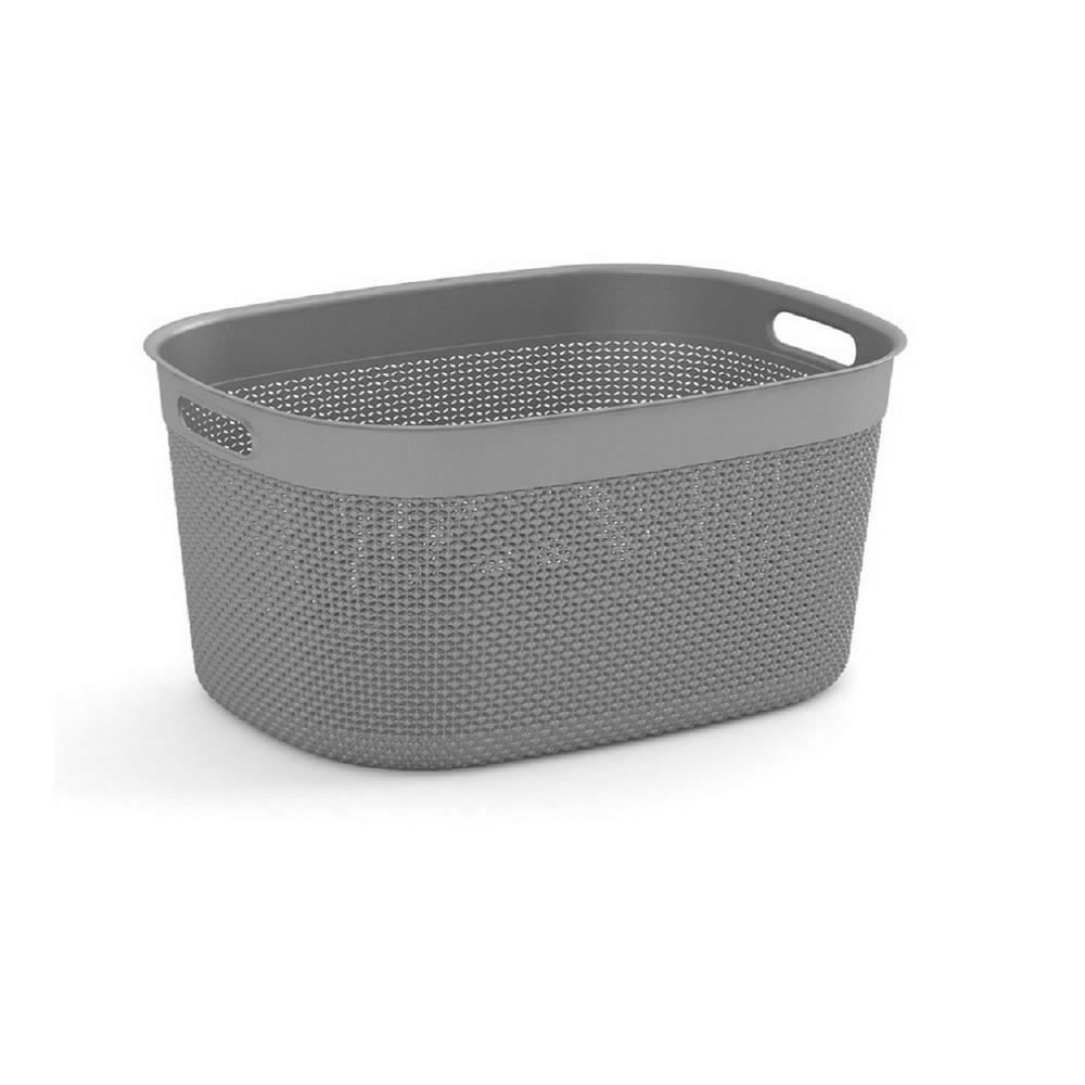 Filo 3.7 Qt. Resin Decorative Plastic Storage Basket