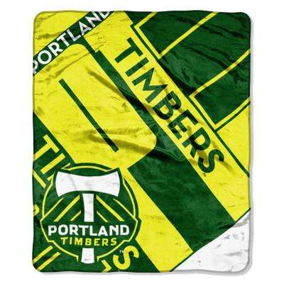 Timbers Scramble Raschel Throw