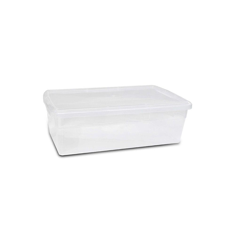 HDX HDX 6 Qt. Premium Shoe Box in Clear