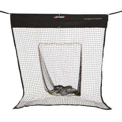 Baseball and Softball Indoor Practice Net in Black