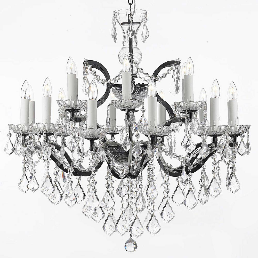 buy brass and iron wrought single lights chandelier lighted crystal antique